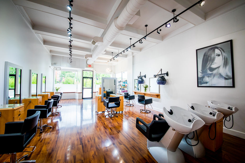 the salon space